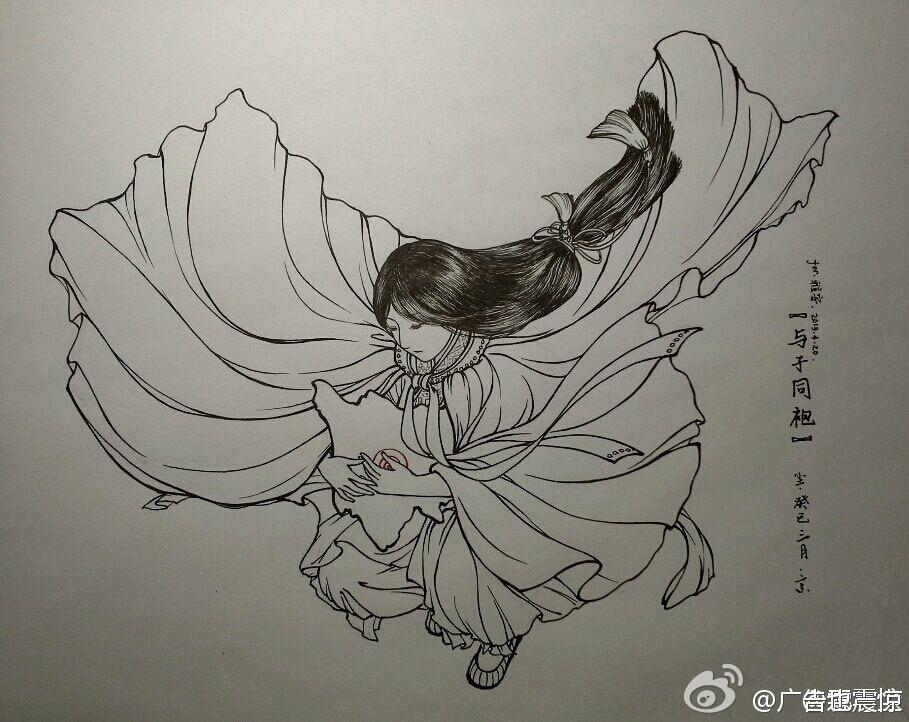 襄阳古城图片 手绘